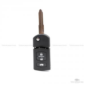 Chiave Guscio Scocca E Lama Telecomando 3 Tasti Per Autovetture Mazda 3 5 6 Mx5 Rx8 Cx-5 Cx-7 Cx-9