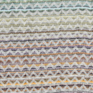 Missoni Home plaid con frange 100x190 cm SIMONE 100 multicolor zig-zag