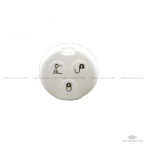 Cover Guscio Colorato Case Materiale Silicone Morbido Per Scocca Chiave Telecomando 3 Tasti Autovetture Smart 450 Fortwo Coupe' Vari Colori (Bianco)