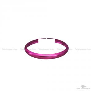 Anello Decorativo Cover Ring Per Auto Mini Cooper One D S Countryman In Alluminio Guscio Scocca Telecomando Chiave Portachiavi (Fucsia)