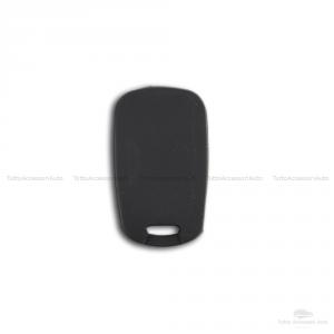 Scocca E Lama + Guscio Cover In Silicone Per Chiave Telecomando Chiave 3 Tre Tasti Auto Hyundai I10 I20 I30 Ix20 Ix35 Elantra (Nero)