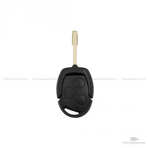 Chiave Guscio Scocca E Lama Telecomando 3 Tasti Per Autovetture Ford Fiesta Focus Mondeo Ka Transit