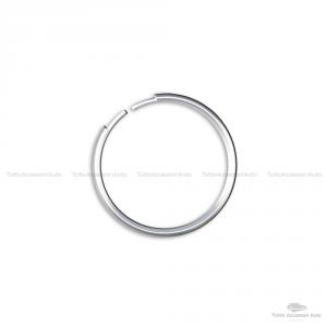 Anello Decorativo Cover Ring Per Auto Mini Cooper One D S Countryman In Alluminio Guscio Scocca Telecomando Chiave Portachiavi (Silver)