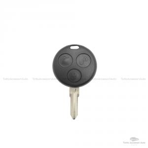 Kit Scocca Chiave Microswitch E Batteria Cr1620 Cover Guscio Scocca Telecomando 3 Tasti Smart Fortwo 450 No Logo No Trasponder No Elettronica Guscio + Lama + 3 Pulsanti + Batteria