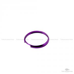 Anello Decorativo 2 Pezzi Cover Ring Per Auto Mini Cooper One D S Countryman In Alluminio Viola Due Pezzi Cerchio Guscio Scocca Telecomando Chiave Portachiavi