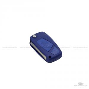 Cover Colorata Protezione In Silicone Morbido Per Scocca Guscio Chiave 3 Tasti Pieghevole Auto Fiat Grande Punto, Panda, Stilo, Bravo, Ducato, Ulysse (Arancione)