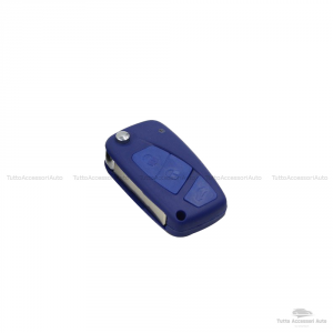 Cover Colorata Protezione In Silicone Morbido Per Scocca Guscio Chiave 3 Tasti Pieghevole Auto Fiat Grande Punto, Panda, Stilo, Bravo, Ducato, Ulysse (Verde Lime)