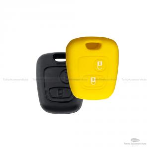Cover Guscio Colorato Materiale Silicone Morbido Per Scocca Chiave 2 Tasti Auto Toyota Aygo In 10 Fantastici Colori (Giallo)