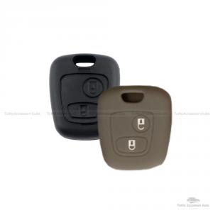 Cover Guscio Colorato Materiale Silicone Morbido Per Scocca Chiave 2 Tasti Auto Toyota Aygo In 10 Fantastici Colori (Grigio)