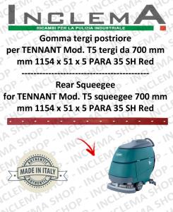 T5 GOMMA TERGI posteriore per tergi da 700 mm  per lavapavimenti TENNANT