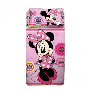 Lenzuola letto singolo Minnie Disney Sopra sotto con angoli e federa
