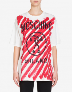 T -shirt in jersey di cotone moschino over size