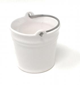 Secchiello vaso in ceramica cm.6,5h diam.7