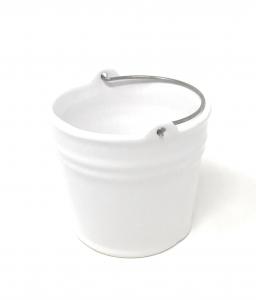 Secchiello vaso in ceramica cm.12h diam.14