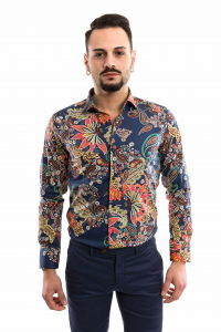 Camicia slimfit - Fantasia Hawaii