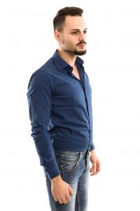 Camicia Basic slimfit - colore Bluette