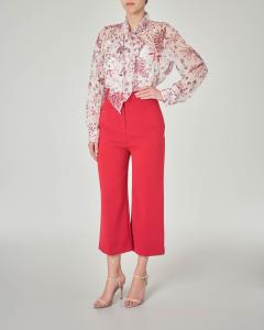 Pantaloni culotte in cady color rosso