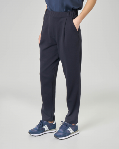 Pantaloni in felpa color blu
