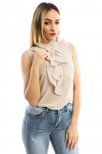 Camicia giromanica - colore Cipria