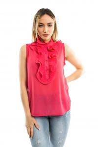 Camicia giromanica - colore Fuxia