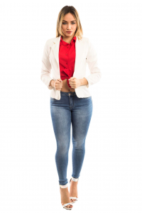 Camicia corta con bottoni e fiocco - colore Rossa
