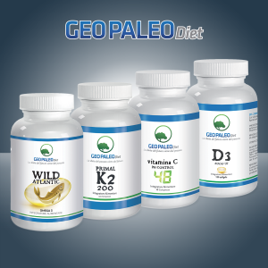 SUPER COMBO ENHANCED: Primal K2 + NEW D3 tablets + Omega3 Wild Atlantic + Vitamin C Ph Control 48