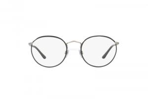 Giorgio Armani - Occhiale da Vista in Metallo Unisex, Grigio Silver (Matte) AR5062J C51