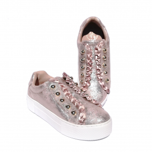 Slip on platino con rouche Guess