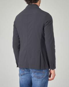 Giacca blu con davantino removibile