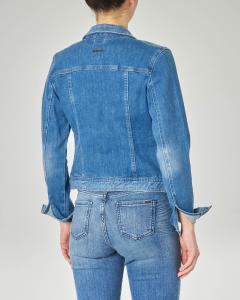 Giubbino in jeans corto con schiariture