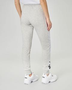 Pantaloni in felpa grigia con logo