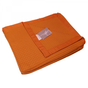 Coperta matrimoniale 220x250 cm MARZOTTO-LANEROSSI Spring arancione 2060 gr