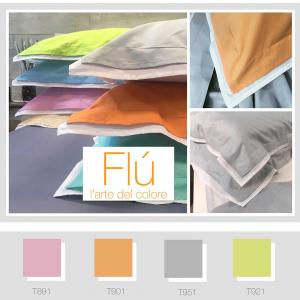 Set lenzuola matrimoniale 2 piazze Maxi in puro cotone FLU' - scegli il colore