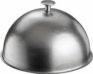 Cloche Campana tonda in acciaio inox Anticato Stone Wash stile Inglese cm.16h diam.27,9