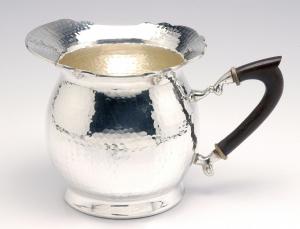 Brocca stile martellata argentato argento sheffield cm.25xx17h diam.15