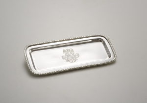 Portapenne placcato argento stile regina anna sheffield