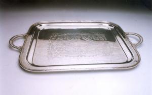 Vassoio rettangolare con manici stile Inciso cm.59x39