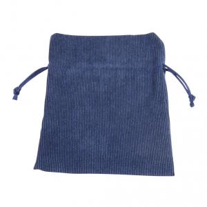 Busta sacchetto velluto blu cm.12,5x10x0,2h