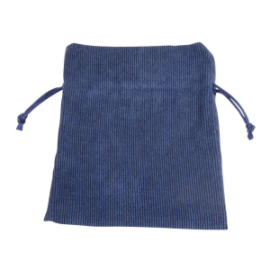 Busta sacchetto velluto blu cm.15,5x13x0,2h