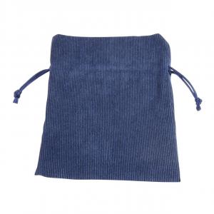 Busta sacchetto velluto blu cm.18x17x0,2h