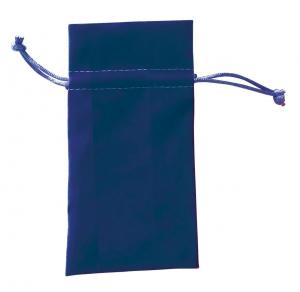 Bustina in velluto blu cm.15,5x7x0,2h
