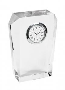 Orologio in vetro da scrivania cm.8,5x3x11,5h
