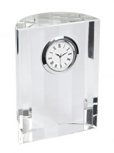 Orologio in vetro da scrivania cm.8x4x11h