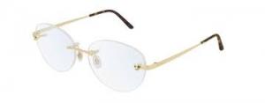 Cartier - Occhiale da Vista Donna, Phantere Gold CT0028O 002 56
