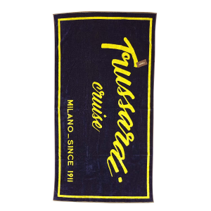 TRUSSARDI T-CRUISE beach towel 95x180 cm blue and lime