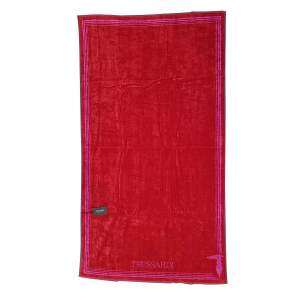 Telo da mare in spugna 95x180 cm TRUSSARDI FRAME Rosso Fuxia