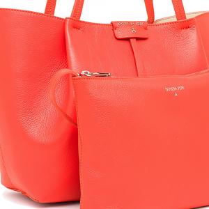 Borsa shopping grande in pelle colore mars red - PATRIZIA PEPE