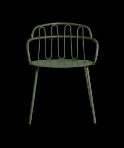 Sedia in metallo Hall