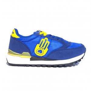 Sneaker cobalto/giallo Kamsa