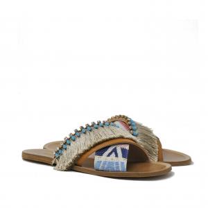 Sandali in stile etnico con frange - PATRIZIA PEPE